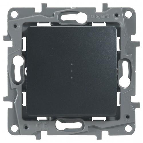 Переключатель/выключатель 1-кл. с подсветкой антрацит Legrand Etika (672615)