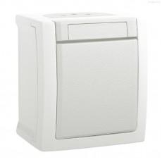Выключатель 1-кл белый наружный