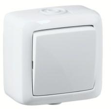 Выключатель О/У 1 кл. брызгозащищ. белый