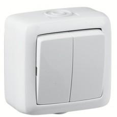 Выключатель О/У 2кл. брызгозащищ. белый