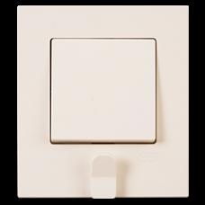 Выключатель 1-кл с держателем для ключей (в сборе) кремовый