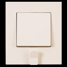 Выключатель 1-кл (в сборе) кремовый (с держателем для ключей)