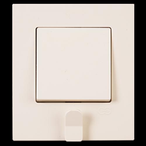 Выключатель 1-кл (в сборе) кремовый (с держателем для ключей) Gunsan Eqona original (01401204-100101)