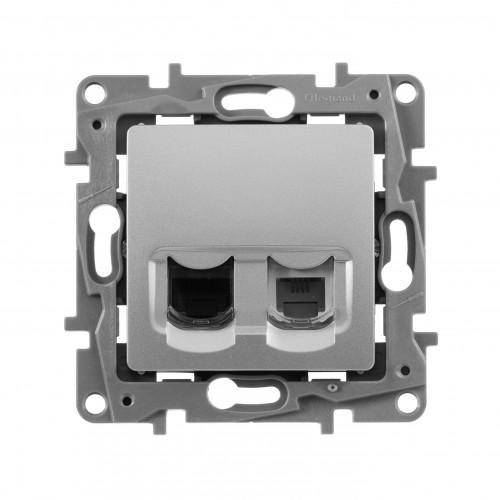 Розетка ТЛФ+компьютер алм.672452  672452 ()