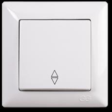 Выключатель 1-кл проходной (без рамки) белый
