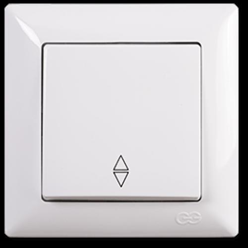 Выключатель 1-кл проходной (без рамки) белый Gunsan Visage (01 28 11 00 150 107)