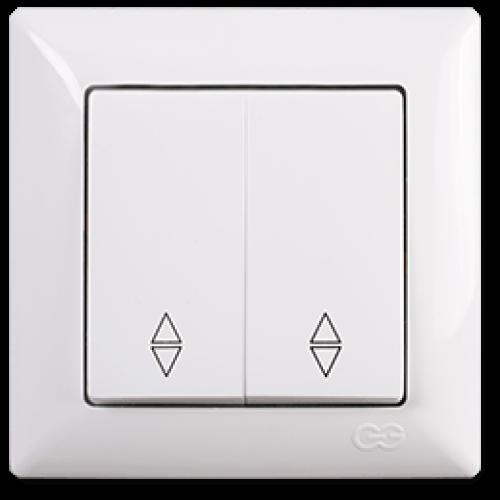 Выключатель 2-кл проходной (без рамки) белый Gunsan Visage (01 28 11 00 150 109)