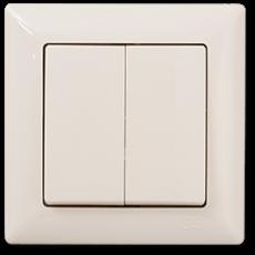 Выключатель 2-кл (без рамки) кремовый