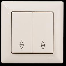 Выключатель 2-кл проходной (без рамки) кремовый