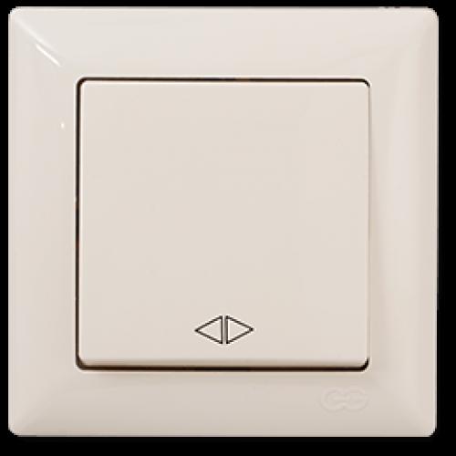 Выключатель 1-кл перекрестный (без рамки) кремовый Gunsan Visage (01 28 12 00 150 135)