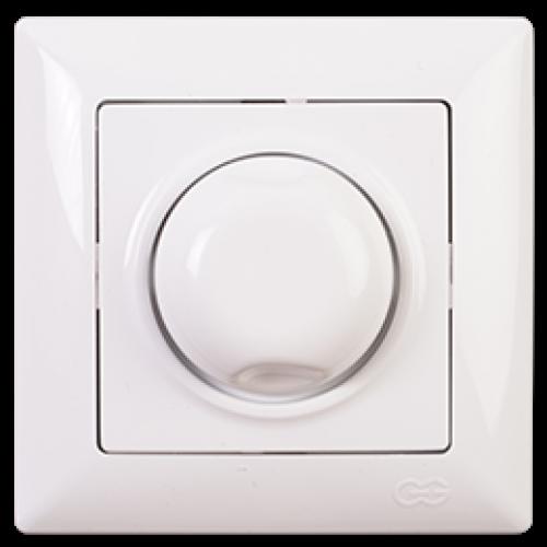 Выключатель-диммер 1000W (без рамки) белый Gunsan Visage (01 28 11 00 160 126)