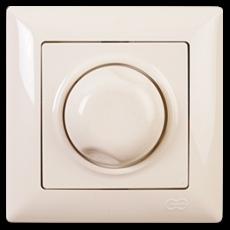 Выключатель-диммер (без рамки) кремовый