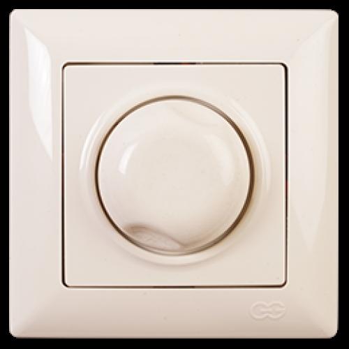 Выключатель-диммер (без рамки) кремовый Gunsan Visage (01 28 12 00 160 198)