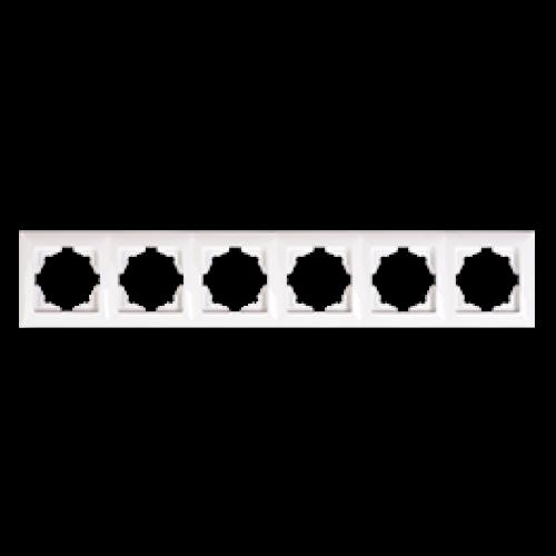 Рамка*6 белая Gunsan Visage (01 28 11 00 000 147)
