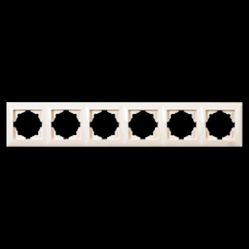 Рамка*6 кремовая Gunsan Visage (01 28 12 00 000 147)