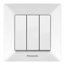 Выключатель 3-кл (в сборе) белый