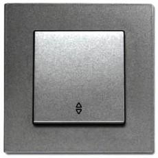 Выключатель 1-кл проходной (без рамки) дымчатый