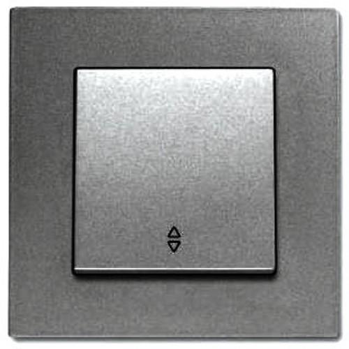 Выключатель 1-кл проходной (без рамки) дымчатый Viko Novella (92105404)