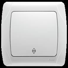 Выключатель 1-кл проходной белый