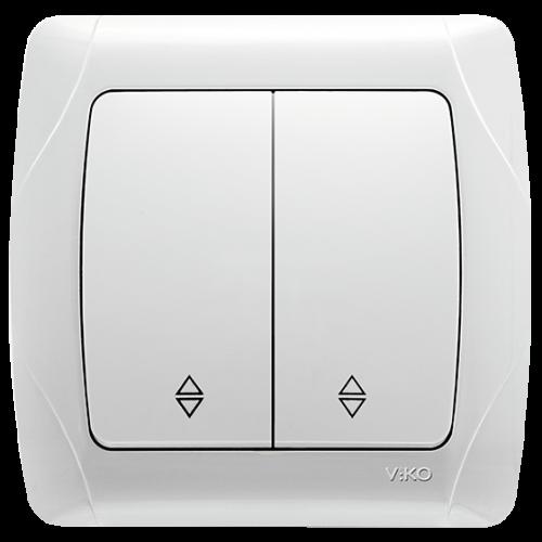 Выключатель 2-кл проходной белый  Viko Carmen (90561017)