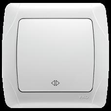 Выключатель 1-кл перекрестный белый