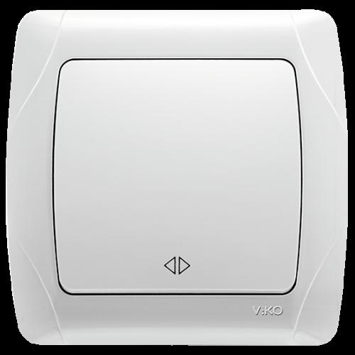 Выключатель 1-кл перекрестный (в сборе) белый Viko Carmen (90561031)
