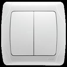 Выключатель 2-кл белый