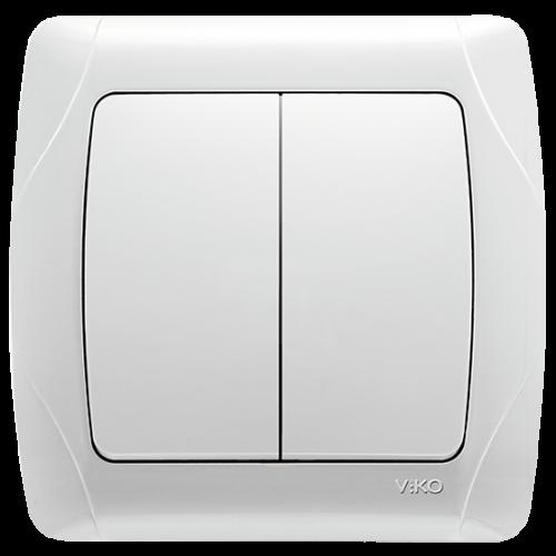 Выключатель 2-кл белый Viko Carmen (90561002)