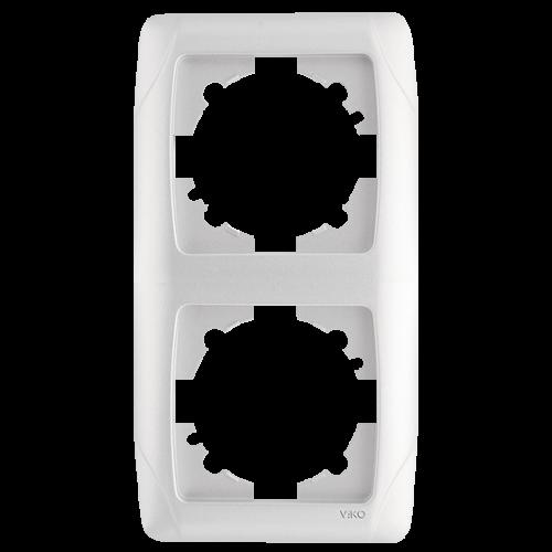 Рамка*2 вертикальная белая  Viko Carmen (90571002)