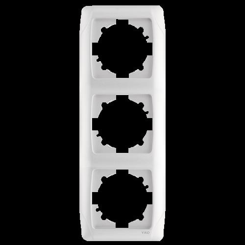 Рамка*3 вертикальная белая   Carmen (90571003)