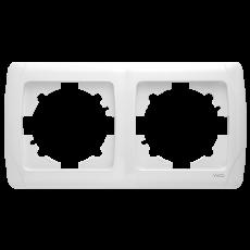 Рамка*2 горизонтальная белая