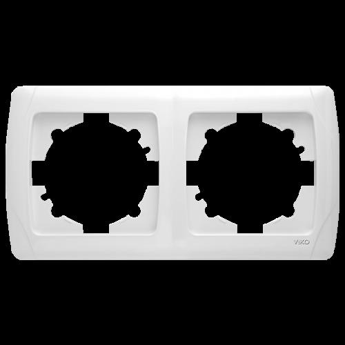 Рамка*2 горизонтальная белая  Viko Carmen (90571102)