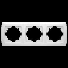 Рамка*3 горизонтальная белая