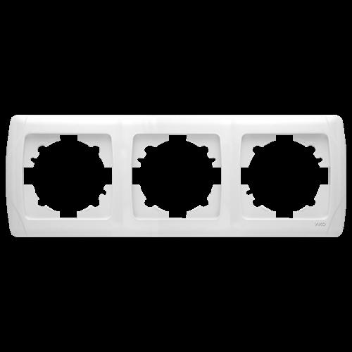 Рамка*3 горизонтальная белая   Carmen (90571103)