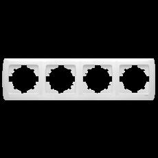 Рамка*4 горизонтальная белая