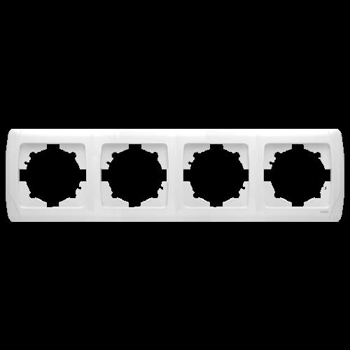 Рамка*4 горизонтальная белая  Viko Carmen (90571104)