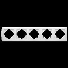 Рамка*5 горизонтальная белая