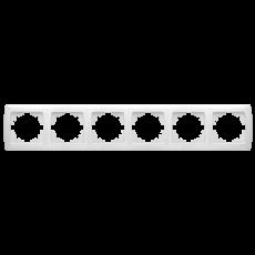 Рамка*6 горизонтальная белая