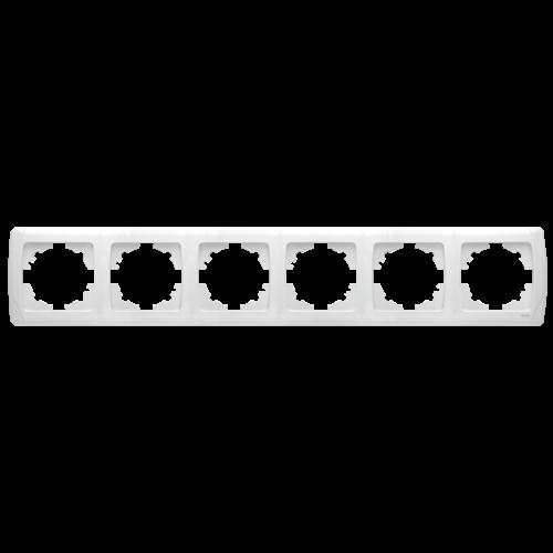 Рамка*6 горизонтальная белая  Viko Carmen (90571106)