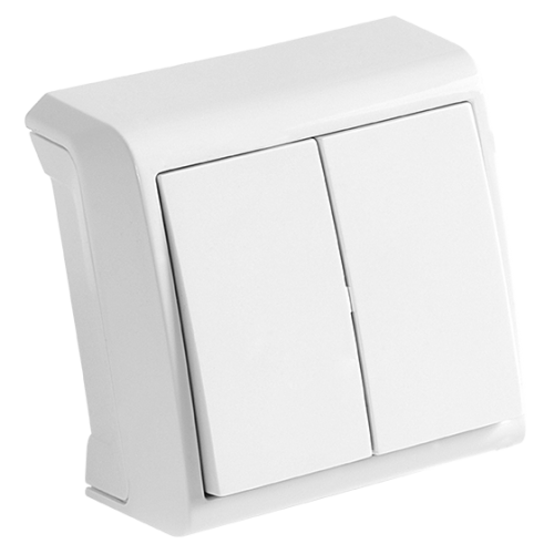 Выключатель 2-кл белый наружный Viko Vera (90681002)