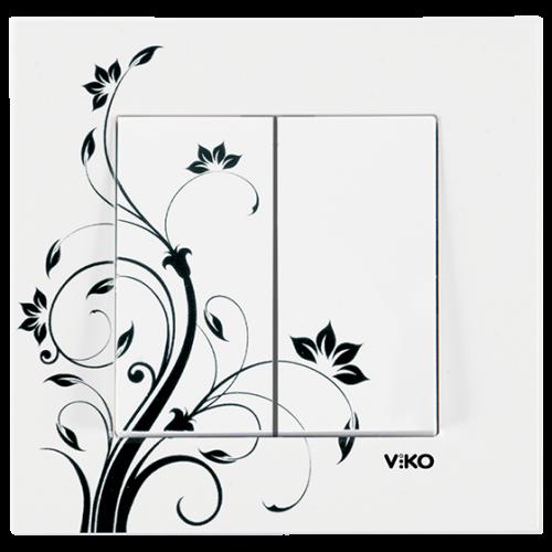 "Выключатель 2-кл. ""Цветок"" Viko Karre Style (90960952)"