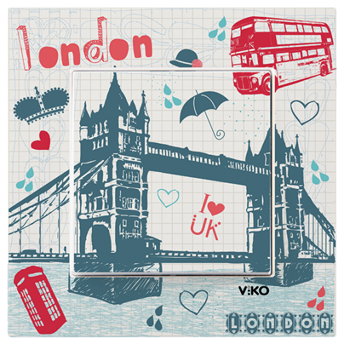 "Выключатель 1-кл. ""Лондон""  Viko Karre Style (90962805)"