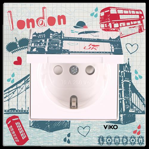 "Розетка с крышкой ""Лондон"" Viko Karre Style (90962825)"