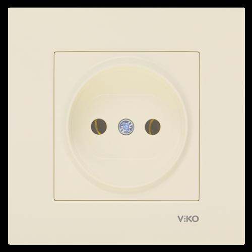 Розетка (без рамки) кремовая Viko Karre (90963707)