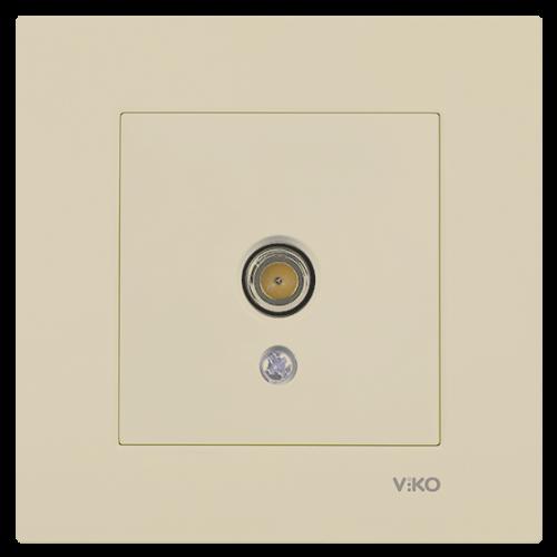 Розетка ТВ оконечная (без рамки) кремовая Viko Karre (90964710)