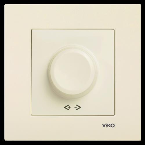 Выключатель-диммер (без рамки) кремовый Viko Karre (90967220)