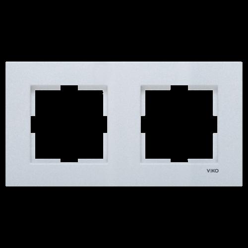Рамка*2 универсальная серебро Viko Novella (92190602)