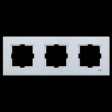 Рамка*3 универсальная серебро