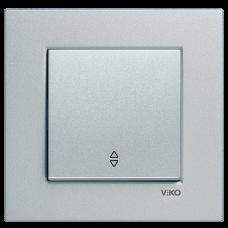 Выключатель 1-кл проходной (без рамки) серебро