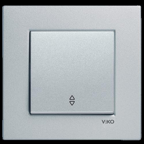 Выключатель 1-кл проходной (без рамки) серебро  Viko Novella (92105004)